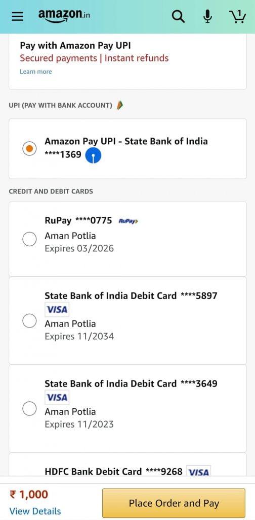 Amazon Online Add Money Methods