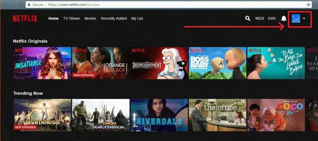 User-Icon-Highlighted-In-NetFlix-Dashboard