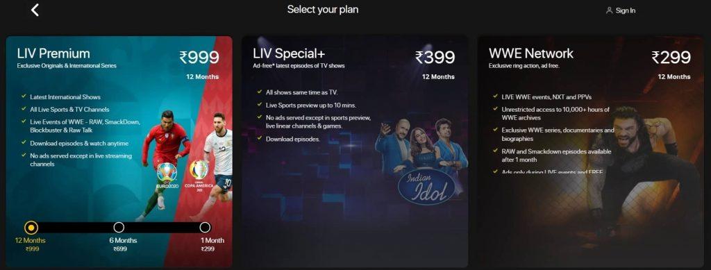 SonyLIV Premium Subscription Prices And Benefits